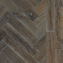 Oak Multilayer Herringbone MAE Antique Distressed Brushed & White LacquerATQ003