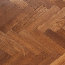 Solid Oak Herringbone SMOKED Natural Brushed & Lacquer BTH005