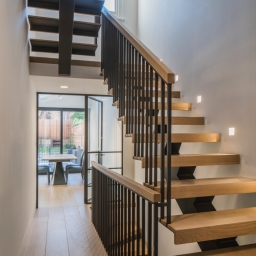 Bespoke Stair Case w/ No Visible Natural Lacquer