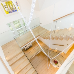 Bespoke Stair Case Rustic Natural Matt Lacquer