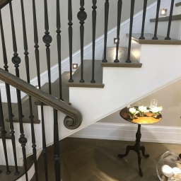 Bespoke Tread Only Stair Case Touch of Grey Matt Lacquer