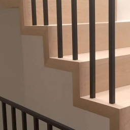 Bespoke Stair Case Touch of White Matt Lacquer