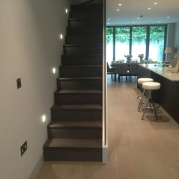 Bespoke Stair Case Grey Stain Matt Lacquer